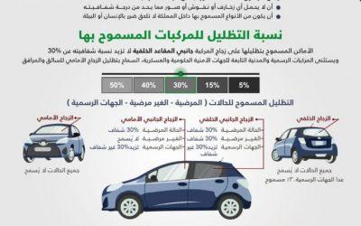التظليل المسموح به والممنوع في السعودية بحسب أحدث أنظمة المرور